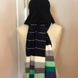 BUNDLE: Gap Scarf and Hand Crochet Bucket Hat